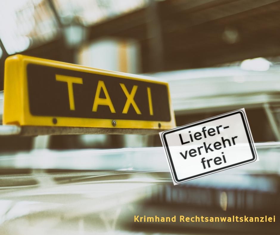Дорожный знак Доставка разрешена и автомобиль такси